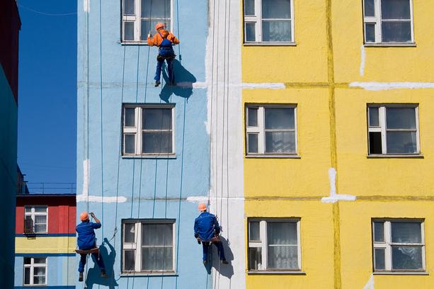 Restavratsiya fasadov v Moskve
